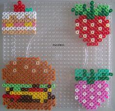 Food hama perler beads by Les loisirs de Pat