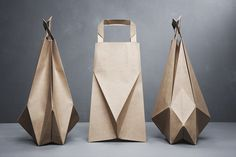 Geometric paper bags designed by Ilvy Jacobs