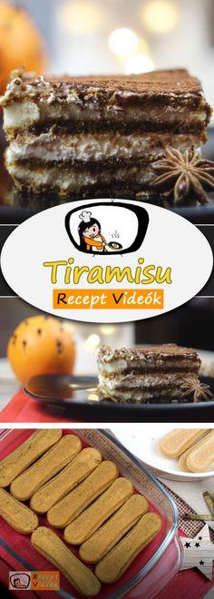 EGYSZERŰ TIRAMISU RECEPT VIDEÓVAL - tiramisu készítése Deserts, Baking, Vegetables, Breakfast, Recipes, Food, Erika, Tiramisu Recipe, Cooking