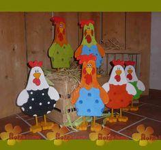 stehende Hühner (Hahn oder Henne)