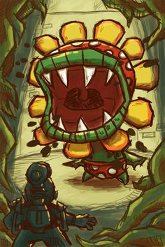 Mario with his F.L.U.D.D. Vs. Petey Piranha.  Love this its by far my favorite Mario game and character!