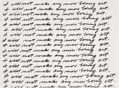 I Will Not Make Any More Boring Art, John Baldessari