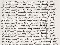 MoMA | The Collection | John Baldessari. I Will Not Make Any More Boring Art. 1971
