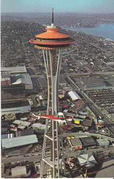 Vintage Space Needle Seattle U.S.A. Postcard by treasures2cherish, $8.00
