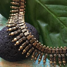 Beautiful Vintage Look Indian Rajasthani Necklace This traditional Rajasthani necklace is made of antiquated, oxidised brass which is