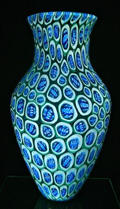 "2016 Michael Egan murrini vessel 22""X11"" large and bold and found on Artfulhome.com"