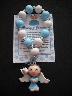 Decenario Angelitapasta Flexibleporcelana Fria Diy Clay, Clay Crafts, Diy And Crafts, Crafts For Kids, Baptism Craft, Catholic Crafts, Baby Girl Baptism, Baby Favors, Baby Presents