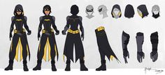 Batgirl - Cassandra Cain - Model Sheet by charlestanart.deviantart.com on @DeviantArt