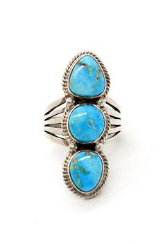 Femmes Vintage Studded Oval Turquoise Bohemia Ethnic Long Dinger Ring Gift