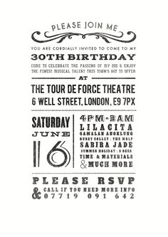 Event invite - Cool concise layout