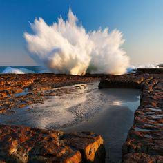 Crashing Waves on the Wild Coast South Afrika, Kwazulu Natal, Crashing Waves, All Nature, France, Pretoria, Africa Travel, Landscape Photos, Live