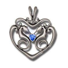 BICO AUSTRALIA PENDANT JEWELRY (CR52) - STUBBORN HEART - Guarded Heart, Stubborn in Love - With Swarovski Crystals - Bico Pendants