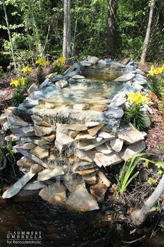 how to build your own waterfall *on a budget*