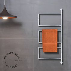 Swivel towel rails are a favourite of ours because they can sit flat against the wall to save space. And these Hydrotherm Milan ones are heated!