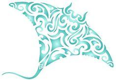 Manta Ray Stencil - 23 x (M) - Reusable Maori Tribal Tattoo Stingray Devil Fish Wall Stencil Template - Use On Paper Projects Scrapbook Journal Walls Floors Fabric Furniture Glass Wood Etc. Fish Stencil, Stencil Painting, Tribal Tattoos, Cool Tattoos, Manta Ray Tattoos, Painting Templates, Large Stencils, Tattoo Stencils, Scrapbook Journal