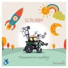 Για εύκολη και γρήγορη μετακίνηση του παιδιού σας, επιλέξτε το Scrubby! Ένα ηλεκτροκίνητο αναπηρικό αμαξίδιο, κατασκευασμένο από αλουμίνιο με πλούσιο εξοπλισμό. Το έμπειρο προσωπικό του τμήματος Αποκατάστασης είναι στη διάθεσή σας, για να σας εξυπηρετήσει σύμφωνα με τις ανάγκες σας! ☎️+30 2310 822 993 🕋Βασ. Όλγας 120, Θεσσαλονίκη #Arthromed #ζήσε_χωρίς_όρια #wheelchairlife #scrubby #Αμεα #αμαξίδιο Pikachu, Fictional Characters, Art, Art Background, Kunst, Performing Arts, Fantasy Characters, Art Education Resources, Artworks