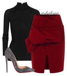 """""""Untitled #3903"""" by stylistbyair ❤ liked on Polyvore featuring T By Alexander Wang and Christian Louboutin"""
