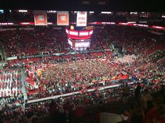 Good court coverage by the NC State fans  87-75  1/11/15