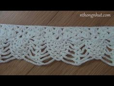 How to crochet borde - Pattern 1 (engsub), My Crafts and DIY Projects