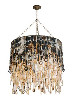 Nguni Cow Horn Chandelier - Contemporary Traditional Transitional Organic Chandeliers - Dering Hall