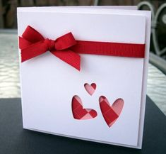 CAS cut-out Valentines by moster - Cards and Paper Crafts at Splitcoaststampers