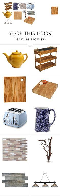 """Kitchen-1"" by kdiz-pasley on Polyvore featuring interior, interiors, interior design, home, home decor, interior decorating, Sarreid, Sean Alan, J.K. Adams and DeLonghi"