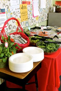 Teacher Appreciation Salad Bar: Thank you for Helping our Children Bloom!