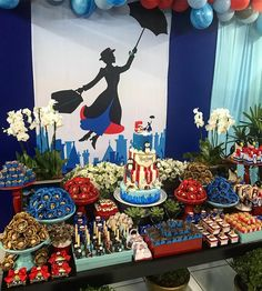 Mary Poppins Returns Party Theme Ideas & Supplies Mary Poppins Returns is coming soon so we've gathered some ideas for a Mary Poppins Party! From decor, to food and favors here's inspiration for your party! Mary Poppins Cast, Mary Poppins Movie, Disney Birthday, Birthday Party Themes, Disney Themed Party, Party Themes For Kids, Disney Party Decorations, Disney Parties, Girl Parties