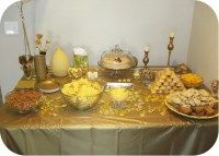 Golden Birthday Party Food Table