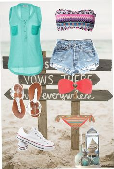 """""""spring break outfits"""" by bubblyblue ❤ liked on Polyvore"""