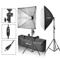 Photo Backdrop+Support SET 1350W Studio SOFTBOX Lighting KIT Photography NEWLY