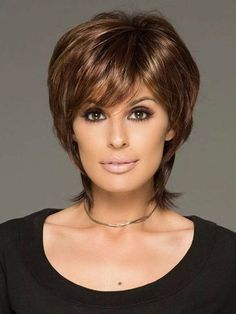 This cutting edge hair style has gorgeous layers and a long wispy nape for texture & easy styling Hair Styles For Women Over 50, Short Hair Cuts For Women, Medium Hair Styles, Curly Hair Styles, Blonde Bob Hairstyles, Easy Hairstyles, Hairstyles 2016, Hairstyle Ideas, Edges Hair