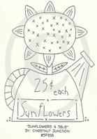 Sunflowers 4 Sale Embroidery Epattern