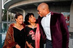 Debbie Allen, Director Phylicia Rashad and Playwright Paul Oakley Stovall at opening night performance of 'Immediate Family' at Center Theatre Group/Mark Taper Forum on May 3, 2015 in Los Angeles, California.