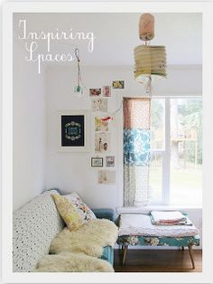 love this patchwork-curtain