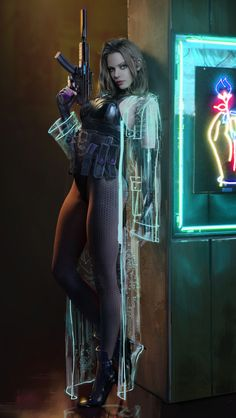 A genre of science fiction and a lawless subculture in an oppressive society dominated by computer technology and big corporations. Arte Cyberpunk, Cyberpunk 2020, Cyberpunk Girl, Cyberpunk Aesthetic, Cyberpunk Fashion, Cyberpunk Movies, Cyberpunk Clothes, Fantasy Women, Sci Fi Fantasy