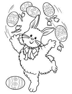 COELHO DA PASCOA PARA PINTAR desenhos que as crianças amam   Ta Demais
