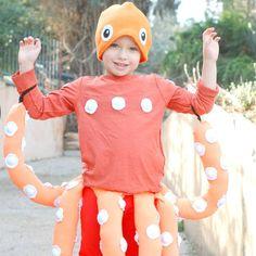 Kids costume: Octopus dress up, purim,diy costume