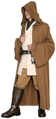 STAR WARS COSTUMES: : A Star Wars Jedi Robe ONLY- Light Brown - Replica Star Wars Costume $63.99 Costume Star Wars, Sith Costume, Star Wars Halloween Costumes, Fancy Costumes, Adult Costumes, Cosplay Costumes, Knight Costume, Halloween Ideas, Star Wars Jedi