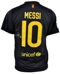 Lionel Messi Autographed Barcelona Jersey - Sports Memorabilia