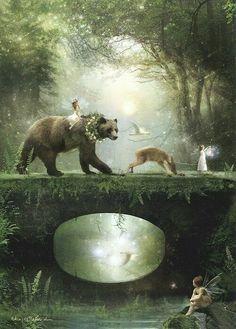 Esther Remmington Fairytale Art, Fairy Art, Fantasy World, Fantasy Art, Faeries, Elves, Fairytale Creatures, Woodland Creatures, Woodland Animals
