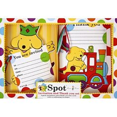 Check out these lovely Spot the Dog birthday invites and thank you notes, so cute