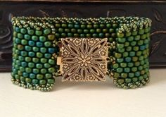 Peyote Stitch Bracelet  Statement Country by CountryChicCharms, $124.00