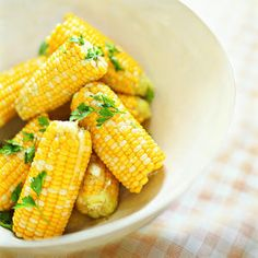 Parsleyed corn on the cob. I'm interested in trying something similar with frozen corn off the cob.