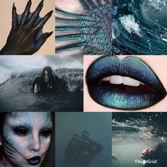 - You are in the right place about wave tattoo Here we offer you the most beautiful pictures about t - Dark Mermaid, Siren Mermaid, Mermaid Makeup, Mermaid Art, Halloween Inspo, Halloween Makeup, Mythological Creatures, Mythical Creatures, Siren Costume
