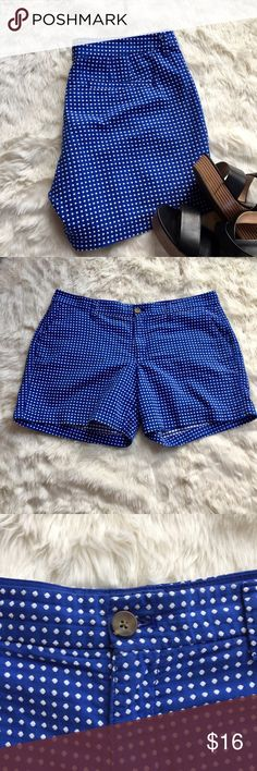 "Old Navy Polka Dot Shorts Vibrant blue shorts with textured white polka dots that really make these shorts cute! Gently worn, in good condition. Pilling in crotch/inseam of pants (see photo). Measurements are taken laying flat and are approximate - Waist: 18"" : Inseam 5"" Old Navy Shorts"