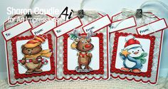 Art Impressions Blog: Christmas Tags by Sharon