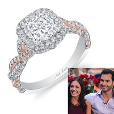 """, who proposed on the finale with a platinum and 18K rose gold """"Romantic Entwined Ring"""" with 3.70 carats of diamonds, including a cushion-cut center stone and 204 round-cut accent diamonds. The happy couple is now reportedly planning an intimate for next summer!  See more cushion-cut engagement rings."""
