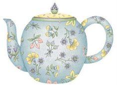 illustrations of tea pots Illustrations, Illustration Art, Tee Kunst, Tea Party Decorations, Cuppa Tea, Decoupage Vintage, Decoupage Paper, Pintura Country, Spring Bouquet