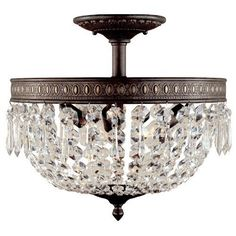 Home Décor Close To Ceiling Lights   Timeless Elegance 3 Light Semi Flush Mount *** This is an Amazon Associate's Pin. Click the VISIT button for detailed description on Amazon website.